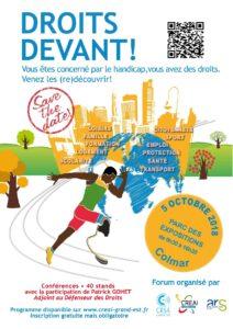 Affiche Forum Droits Devants !