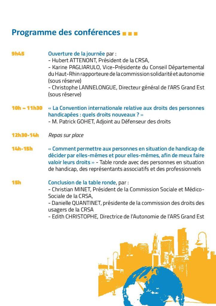Programme des conférences au forum
